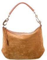 Calvin Klein Collection Leather-Accented Suede Hobo