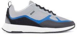 HUGO BOSS Hybrid Trainers With Suede Overlays - Light Blue