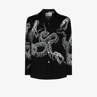Wacko Maria Snake Print button-up Shirt