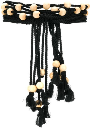 Philosophy di Lorenzo Serafini rope and bead belt