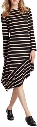 Ella Moss Rhea Striped Long-Sleeve Asymmetrical Dress