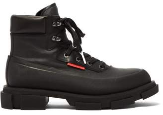 Both - Lace-up Rubber And Canvas Boots - Mens - Black