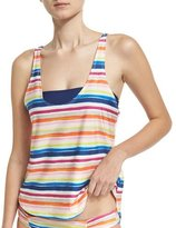 Splendid Water Color Double-Dip Tank & Bandeau Swim Top