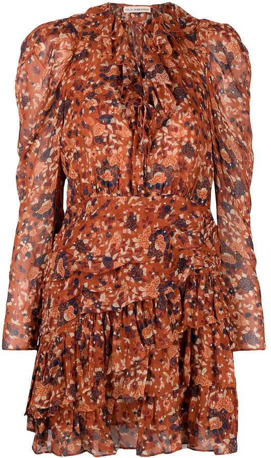 Ulla Johnson Cecily Poppy-print mini dress