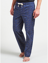 John Lewis Star Print Lounge Pants, Blue