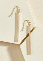 ModCloth Key to Simplicity Earrings in Gold