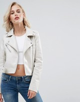 Pull&Bear Leather Look Biker Jacket