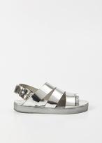 Marsèll silver gradone wedge sandal