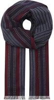 Johnstons Grey Herringbone Classic Fine Merino Wool Scarf