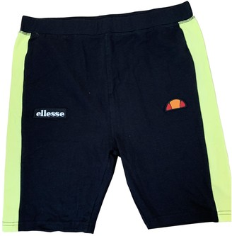 Ellesse Black Cotton - elasthane Shorts for Women