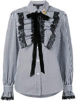 Marc Jacobs ruffle placket striped shirt