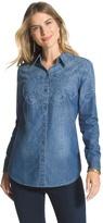 Chico's Demetria Paisley Denim Shirt