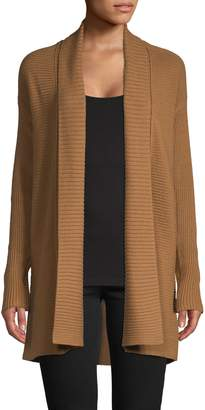 Lord & Taylor Ribbed Open-Front Cardigan