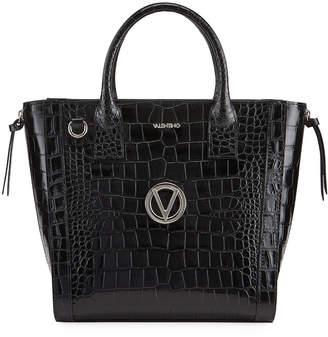 Mario Valentino Valentino By Charmont Mock-Croc Satchel Tote Bag