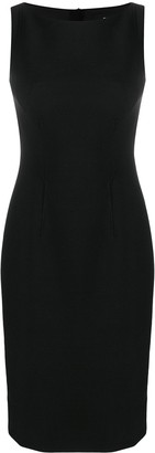 Paule Ka Contour-Waist Fitted Midi Dress
