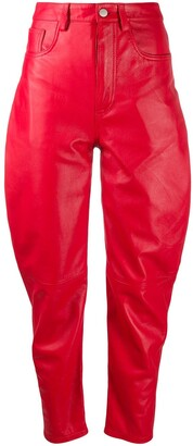 ATTICO High-Waisted Tapered Trousers