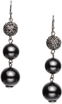 St. John Pearl & Swarovski Crystal French Wire Earring