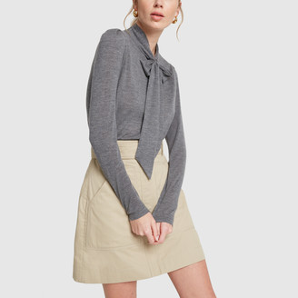 Co Fine Cashmere Knit Grey Sweater