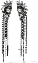Erickson Beamon Limelight Silver-plated, Swarovski Crystal And Faux Pearl Earrings