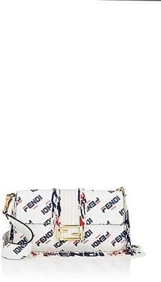 Fendi Women's Baguette Beaded Leather Shoulder Bag - White