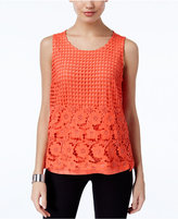 INC International Concepts Petite Lace Layered-Look Top, Only at Macy's