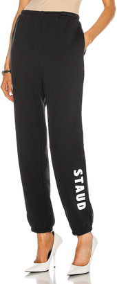 STAUD Logo Sweatpants in Black | FWRD