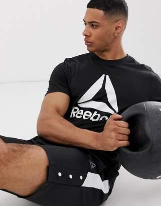 Reebok Training logo t-shirt in black