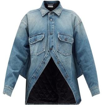 Balenciaga Swing Denim Jacket - Blue
