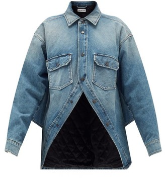 Balenciaga Swing Denim Jacket - Womens - Blue