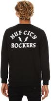 HUF Rockers Mens Crew Black