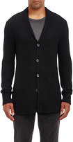 John Varvatos MEN'S REVERSE HIGH-LOW HEM CARDIGAN