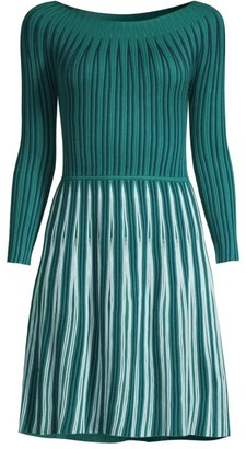 Emporio Armani Knit Three-Quarter Sleeve Dress