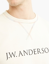 J.w. Anderson Cream Cotton Logo Sweatshirt