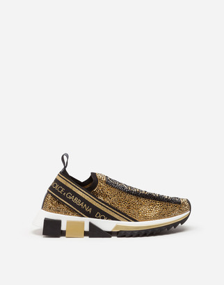 Dolce & Gabbana Sorrento Sneakers With Fusible Crystals