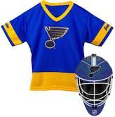Franklin Youth Franklin St. Louis Blues Goalie Face Mask & Jersey Set