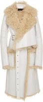 Proenza Schouler Shearling Trim Leather Long Coat