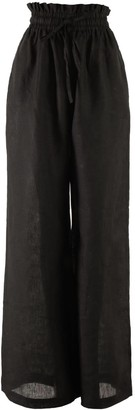 Nary Kampot Linen Lounge Pant In Black