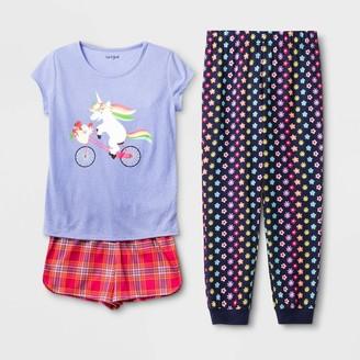 Cat & Jack Girls' Unicorn 3pc Pajama Set - Cat & JackTM