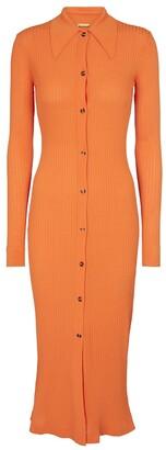 Dodo Bar Or Ribbed-knit maxi dress