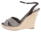 Christian Dior Woven Espadrille Wedges
