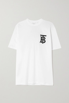 Burberry Oversized Printed Cotton-jersey T-shirt - White