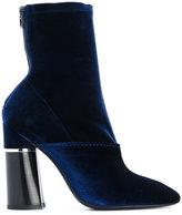 3.1 Phillip Lim two tone ankle boots - women - Leather/Neoprene/Velvet - 35