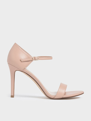 Charles & Keith Patent Ankle Strap Stiletto Heels