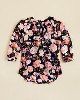 Aqua Girls' Floral V-Neck Chiffon Top , Sizes S-XL - 100% Exclusive