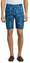 Robert Graham Paisley-Print Linen-Blend Shorts, Blue