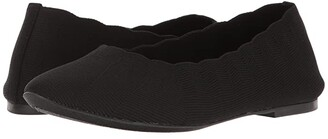 Skechers Cleo Bewitched - Engineered Knit Skimmer (Black) Women's Shoes