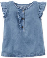 Carter's Flutter-Sleeve Denim Top, Little Girls and Big Girls