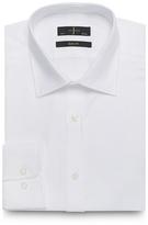 J By Jasper Conran Big And Tall White Textured Button Down Slim Fit Shirt