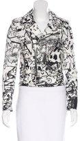 Saint Laurent 2016 Leather Printed Jacket