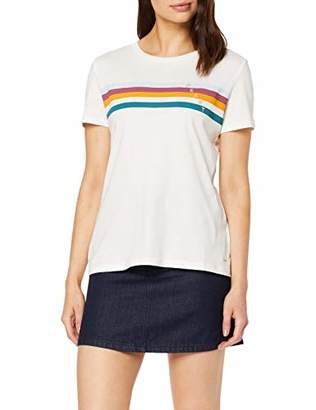 Tom Tailor Women's Sportliches Jersey T-Shirt, (White 10332), S